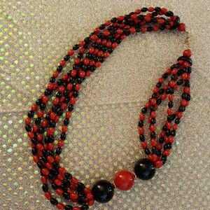 Red/black Bead Necklace